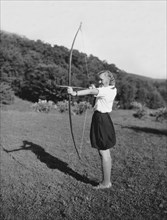 Girl Scout With Bow And Arrow