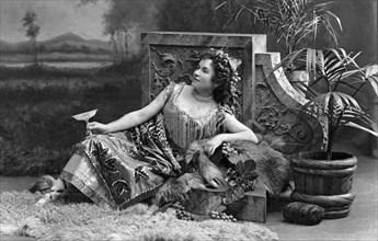 Woman Reclining In Luxury