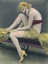Hand Tinted Photo Of A Woman