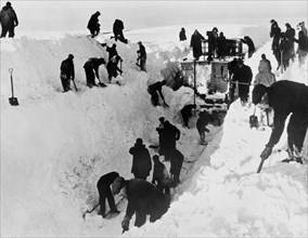 Clearing Snow For Trains