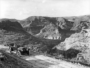 Lone Car In Fish Creek Canyon