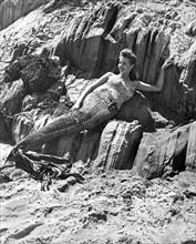 Lounging Mermaid On The Rocks