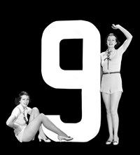 """The Number """"9"""" And Two Women"""