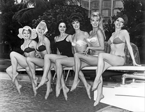 Six Showgirls At The Pool