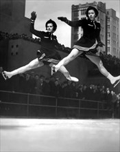 Ice Skaters Perform In NY