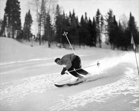 Skiing HIll 70 At St. Sauveur