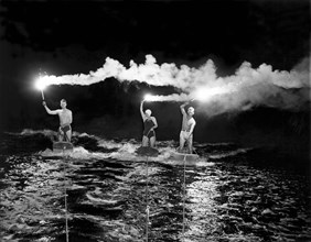 Aquaplaning By Fiery Night