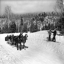A Sleigh Ride Greets Skiers