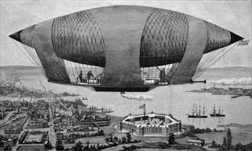 Steerable war balloon