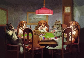 Passing the Ace Under the Table (Dog Poker) 1903