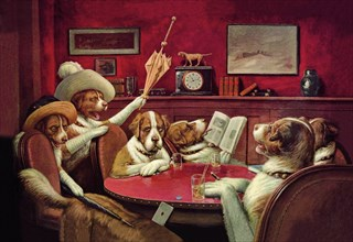 "Dog Poker - ""This Game Is Over"" 1903"