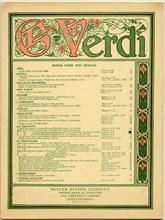 Giuseppe Verdi book with the songs of his operas