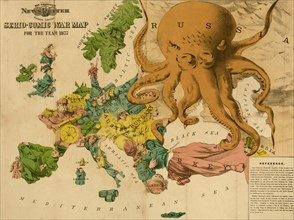Serio-comic war map for the year 1877 1877
