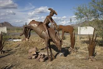 Iron Horses and cactus near Sedona, Arizona 2006
