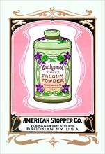 Euthymol Violet Talcum Powder 1900