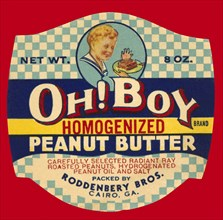 Oh! Boy Homogenized Peanut Butter 1934