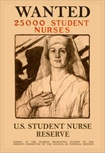 Wanted 25,000 Student Nurses 1917