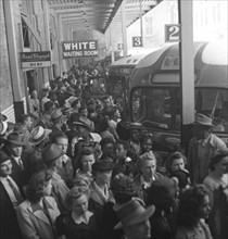 A segregated  Greyhound bus trip from Louisville, Kentucky, to Memphis, Tennessee, and the terminals. 1943