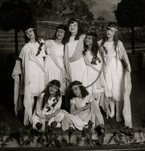 "Children of the Sunshine with ""Play"" Miss Mackay's Pageant Children of Sunshine and Shadow as presented at Washington Irving High School. 1916"