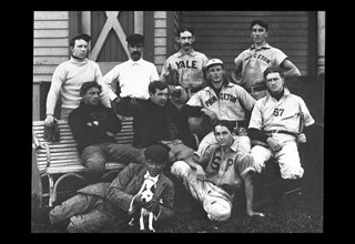 College Baseball Players with Terrier 1898