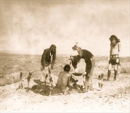 Giving the medicine--Navaho 1906