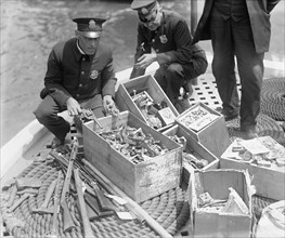 New York Police Destroy Boxes of Revolvers 1923
