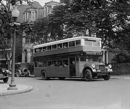 Parlor Car Bus from DC to Atlantic City 1925
