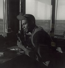 African American Sergeant from the Control Tower for the Tuskegee Airmen 1945