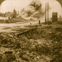 San Francisco earthquake, 1906: Dynamiting unsafe walls left by the earthquake and fire 1906