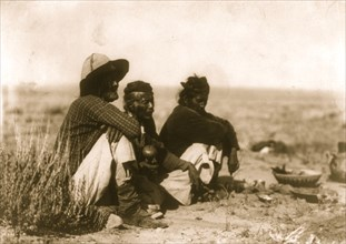 Three chanters--Navaho 1905