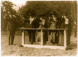Training a policewoman--target practice under the direction of Inspector  1930