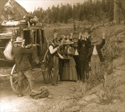 Two Gunned Bandit Holds up Stagecoach 1911