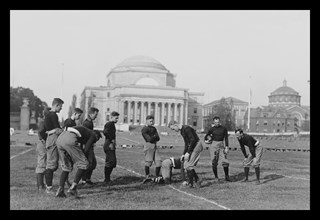 Columbia University Football - Traing the Half-backs 1916