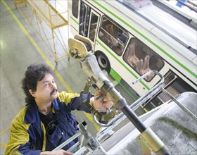 Assembly Line Of Trolleybuses At Likinsky Bus Plant