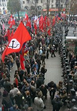 Leftist Demonstrators And Representatives Of Oun-Upa During Skirmishes In Kiev