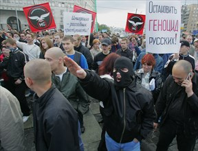 Demonstration Against Ethnic Crime In Moscow