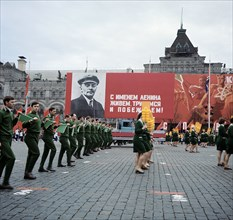 May Day Celebrations In Red Square In Moscow