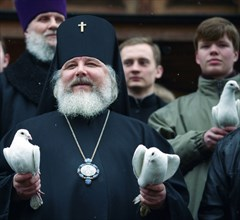 Russian Orthodox Believers Celebrate Annunciation Day