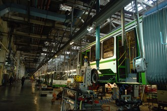 LIAZ-5256 Bus Assembly Line At The Likino Bus Plant
