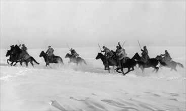 World war 2, red army cavalry charge, march 1942.
