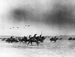 The german defense line is pierced by a dashing attack on the southwestern front, during world war ll.