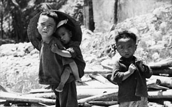 Orphaned north vietnamese children, early 1970s.