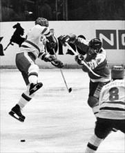 19th international izvestia prize hockey tournament at luzhniki stadium december 16, 1985, ussr playing canada in the first game following the opening ceremonies, the soviet team won 8 to 2.