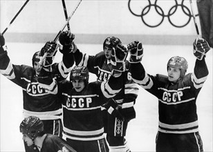 15th winter olympics, calgary, canada, 1988, the soviet national team beats sweden 7 to 1 in the penultimate match on february 26, 1988.