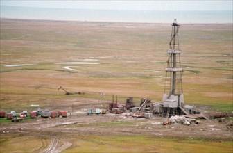 Oil field in tyumen area, siberia, russia 9/95 .