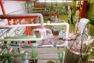 Fermentation room at the state research centre of applied microbiology in obolensk, moscow region, where a new generation of curative and prophylactic preparations to treat human and animal infectious...