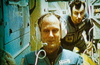 Mir 1995: us astronaut norman thagard on the day he broke the us record for time in space.