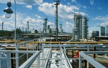 A new oil refiney in tatarstan, russia, 1995.