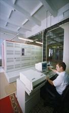 A fibre-optic telephone exchange in nizhny novgorod, russia, august 1997.