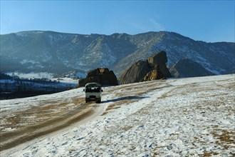 Mongolia, march, 2010, the gorkhi terelj national park.
